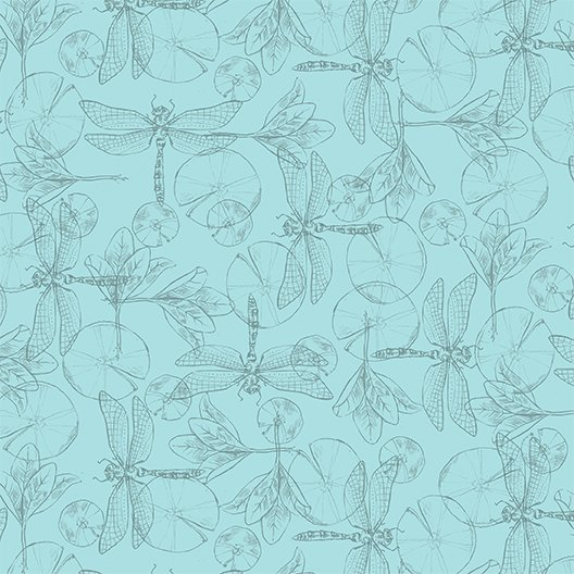 Dragonflies Light Teal (Y2196-103)