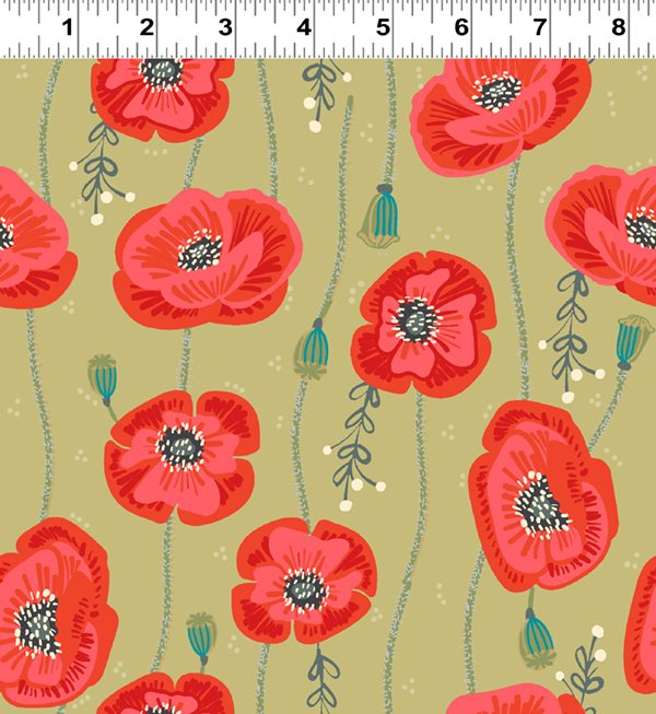 Poppies Gold (Y2440-68)