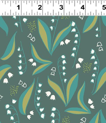 Lilly of the Valley Dark Teal (Y2445-105)