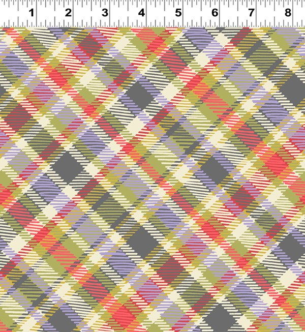 Diagonal Plaid Tomato (Y2447-80)