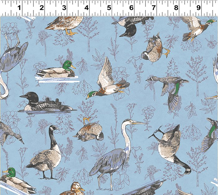 Quilt Minnesota 2019 Waterfowl Light Blue (Y2745-29)