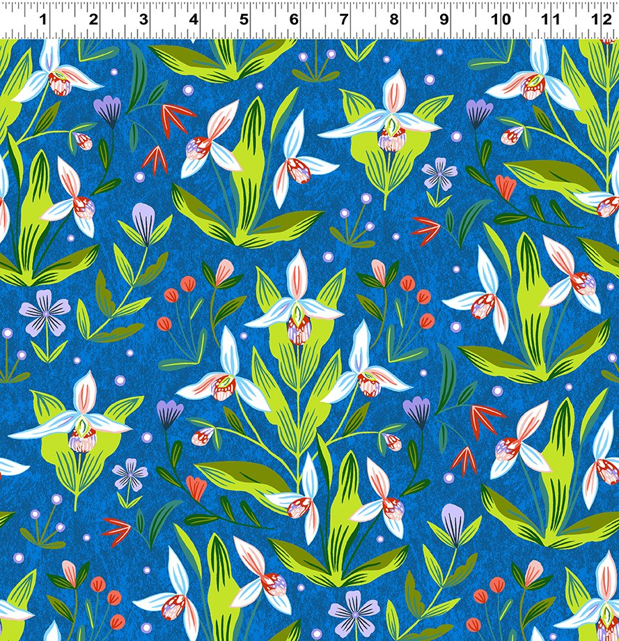 Quilt Minnesota 2020 Lady's Slipper Royal Blue (Y3018-31)