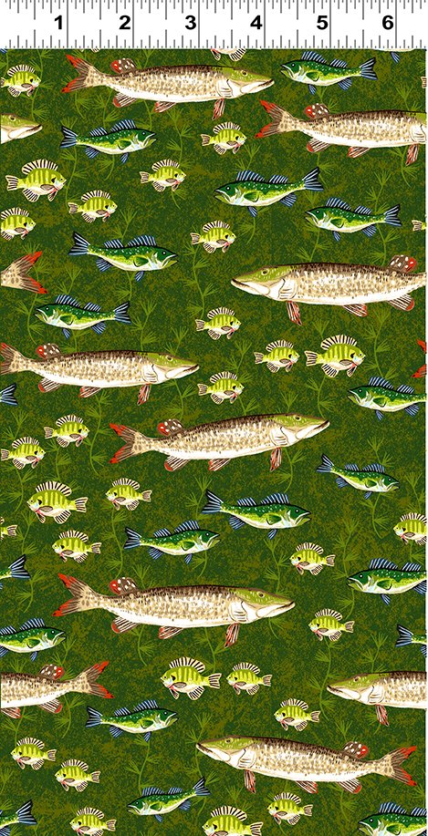 Quilt Minnesota 2020 Muskie Light Forest (Y3019-112)