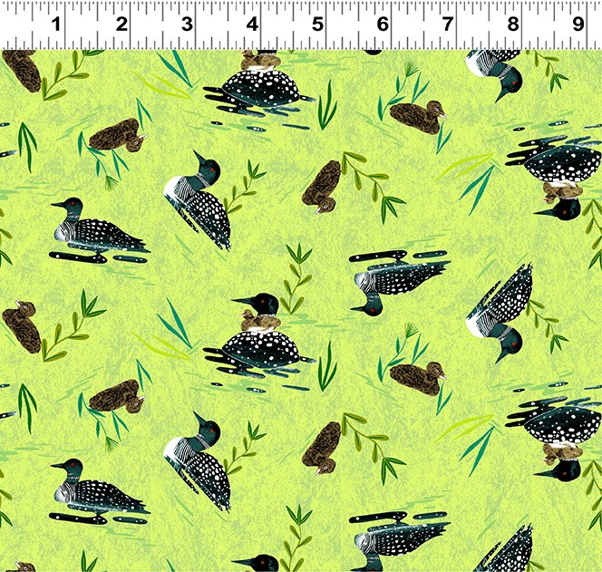 Quilt Minnesota 2020 Loons Lime (Y3020-18)