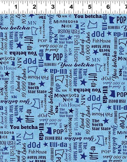 Quilt Minnesota 2020 Words Light Sky (Y3021-97)