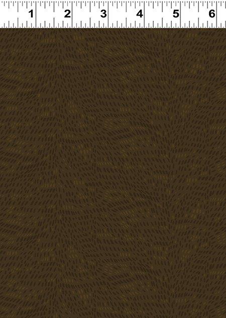 Quilt Minnesota 2020 Fur Texture Dark Brown (Y3025-16)