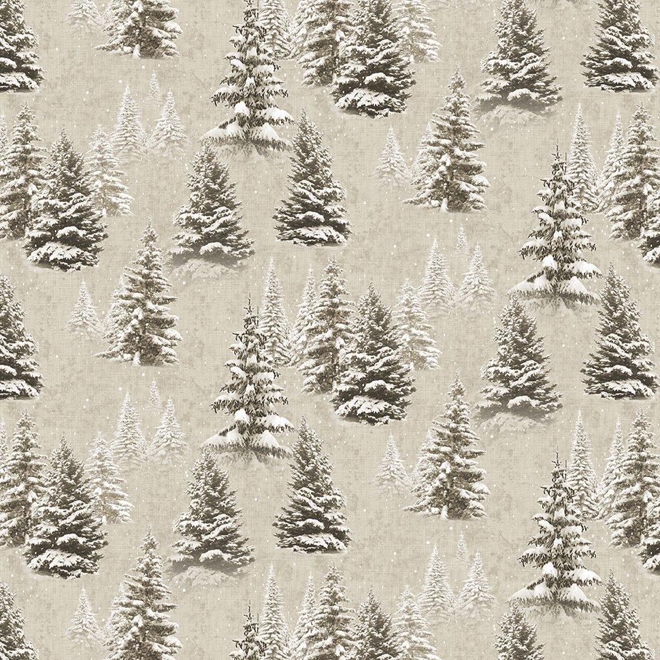 Quilt Minnesota 2021 Trees Khaki Y3315-12