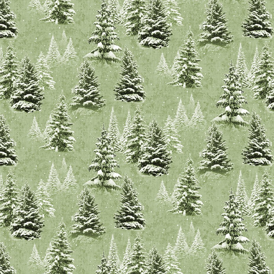Quilt Minnesota 2021 Trees Light Olive Y3315-23