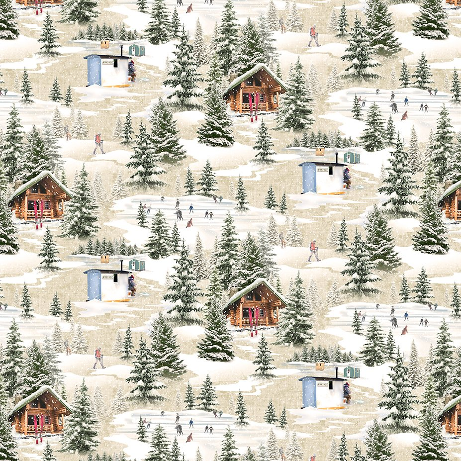 Quilt Minnesota 2021 Winter Toile Taupe Y3316-62