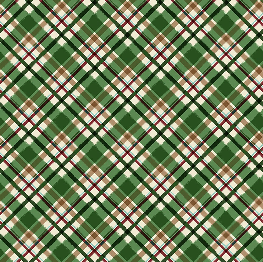 Quilt Minnesota 2021 Diagonal Plaid Green Y3322-21