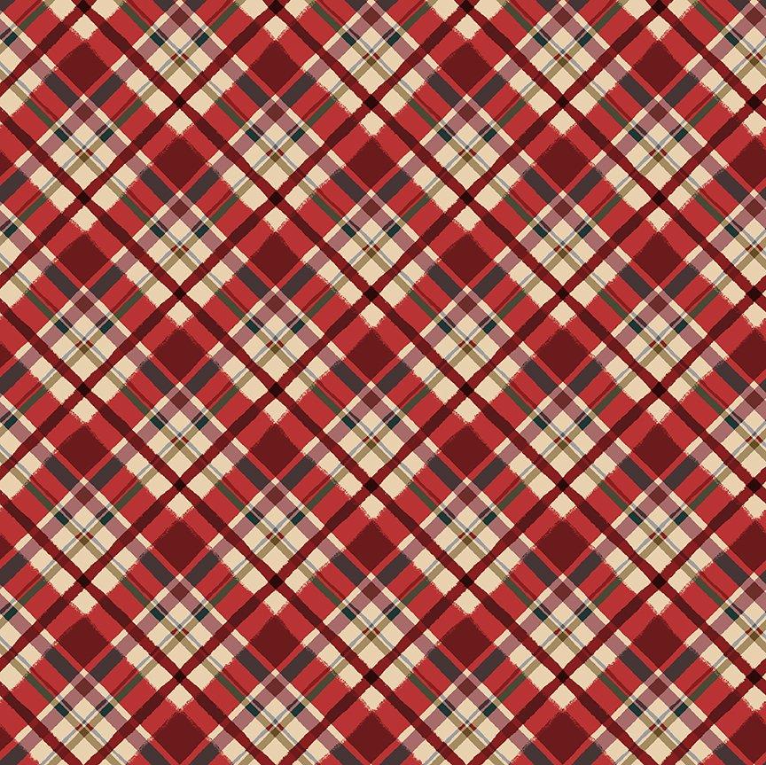 Quilt Minnesota 2021 Diagonal Plaid Light Red Y3322-4