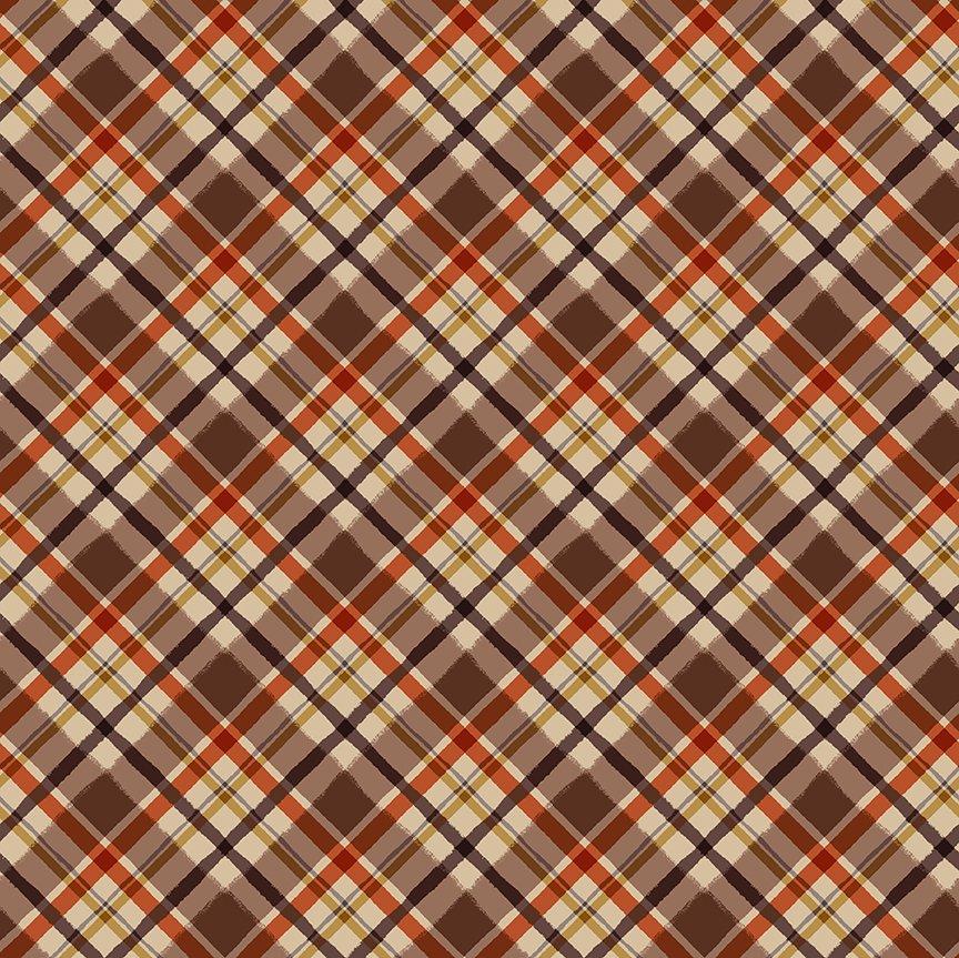 Quilt Minnesota 2021 Diagonal Plaid Dark Caramel Y3322-66