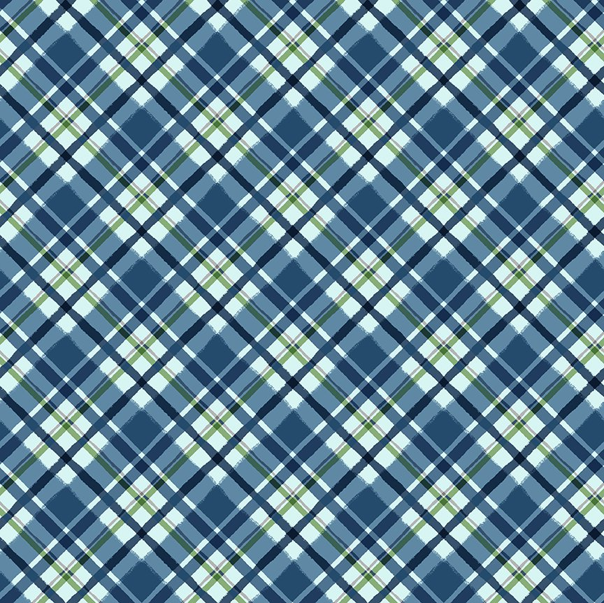 Quilt Minnesota 2021 Diagonal Plaid Blue Y3322-90