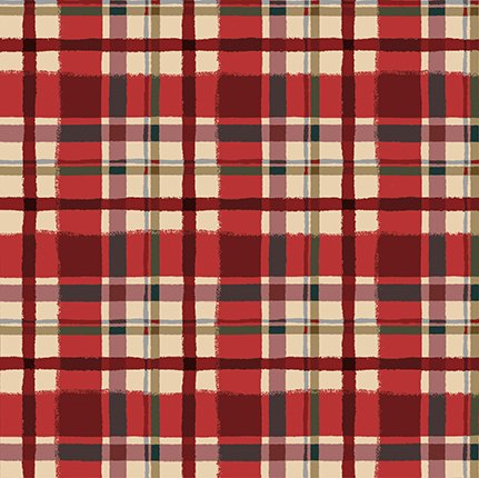 Quilt Minnesota 2021 FLANNEL Plaid Light Red Y3324-4