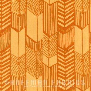Hoffman Hand Dyed Batik - Feathered Arrows Sunflower 104 150