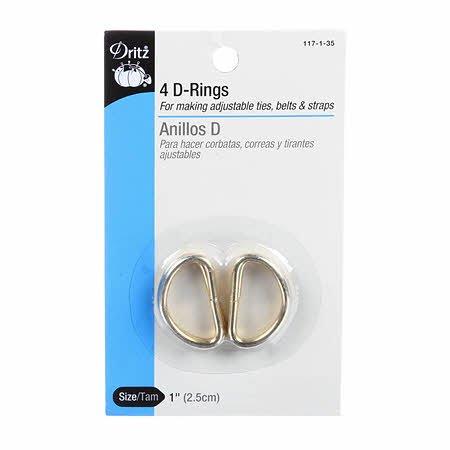 Metal D Rings 1 4ct Gold