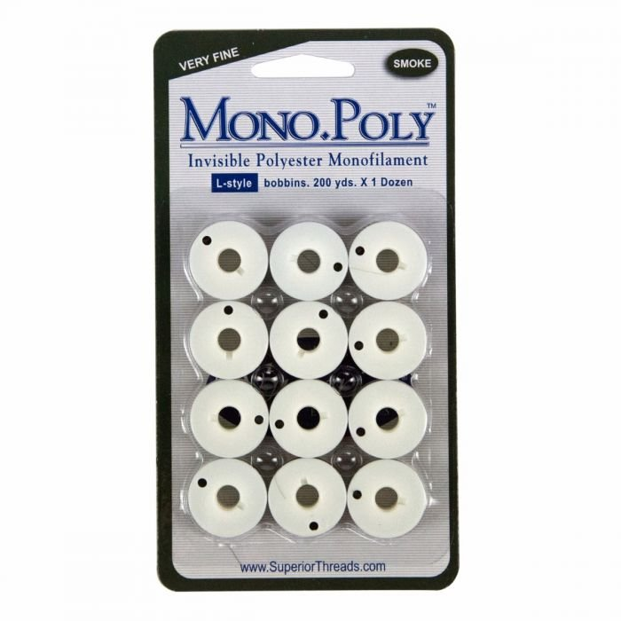 Mono Poly Smoke Prewound Bobbins Class L