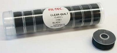 Fil-Tec Clear-Quilt Class L 12961 Black Cotton Bobbin 10ct