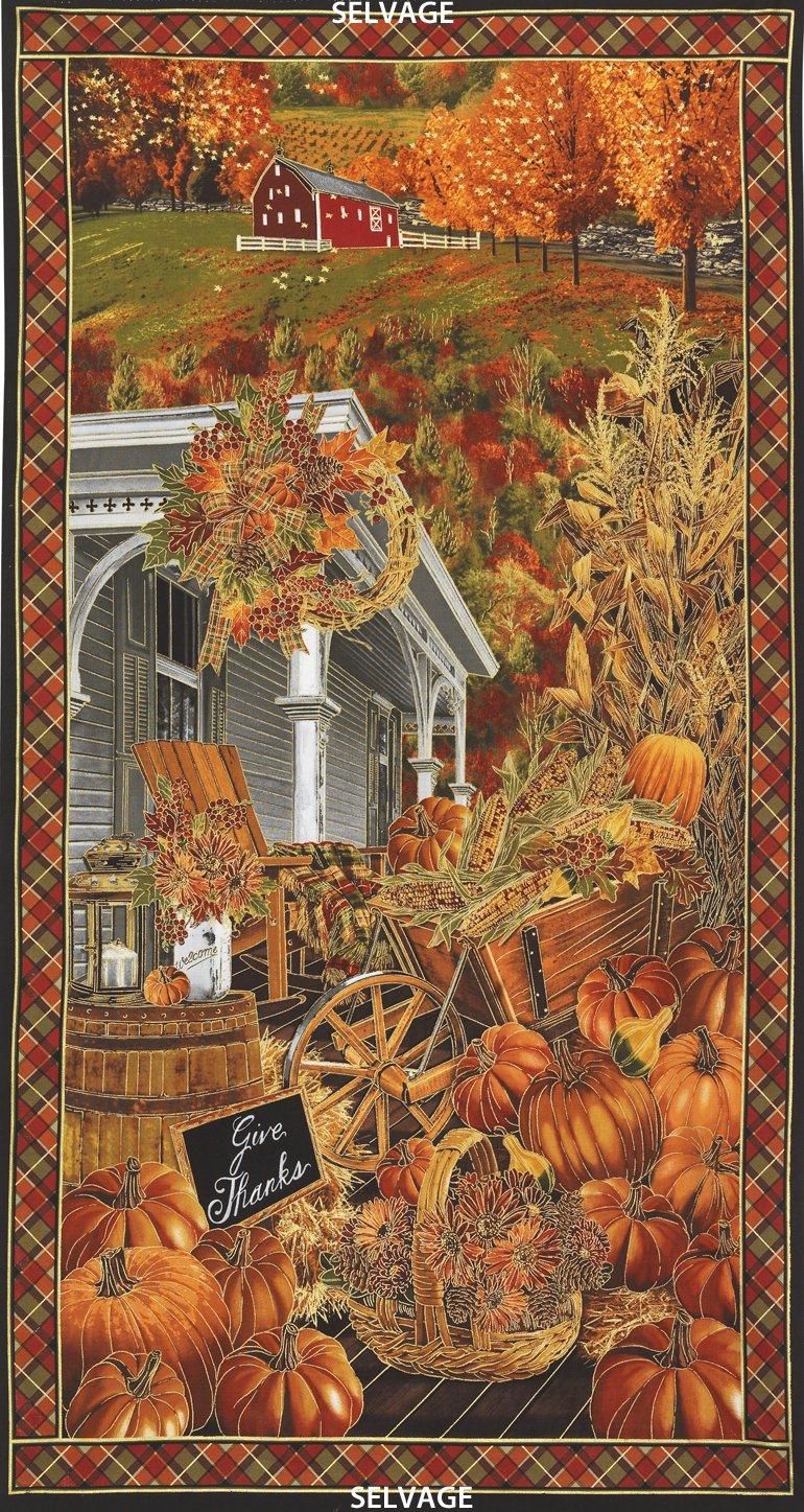 Fall Scenic Panel #137 - Pumpkin Metallic 4289