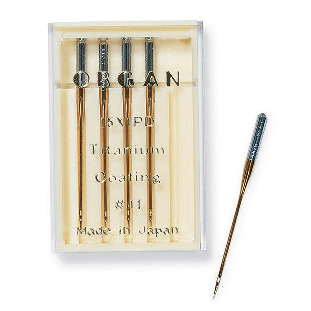 Titanium Coated Organ Embroidery Needles 75/11