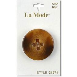1 3/8  (34mm) Tan 4 hole Button