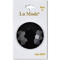 1 1/2  (38mm) Black Round Shank Button