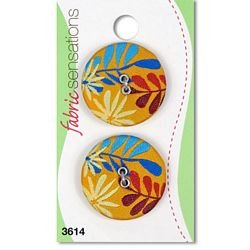 1 1/8 Bali Fabric Covered  Button