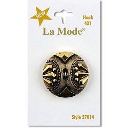 1 1/4  (32mm) Antique Gold 2 Hole Decorative Button