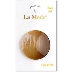 1 3/8  (34mm) Tan Shank Button