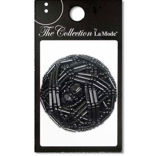 1 5/8  (41mm) Black Bugle Shank Button