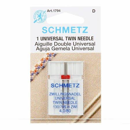 Schmetz Twin Machine Needle Size 4.0mm/80 1ct