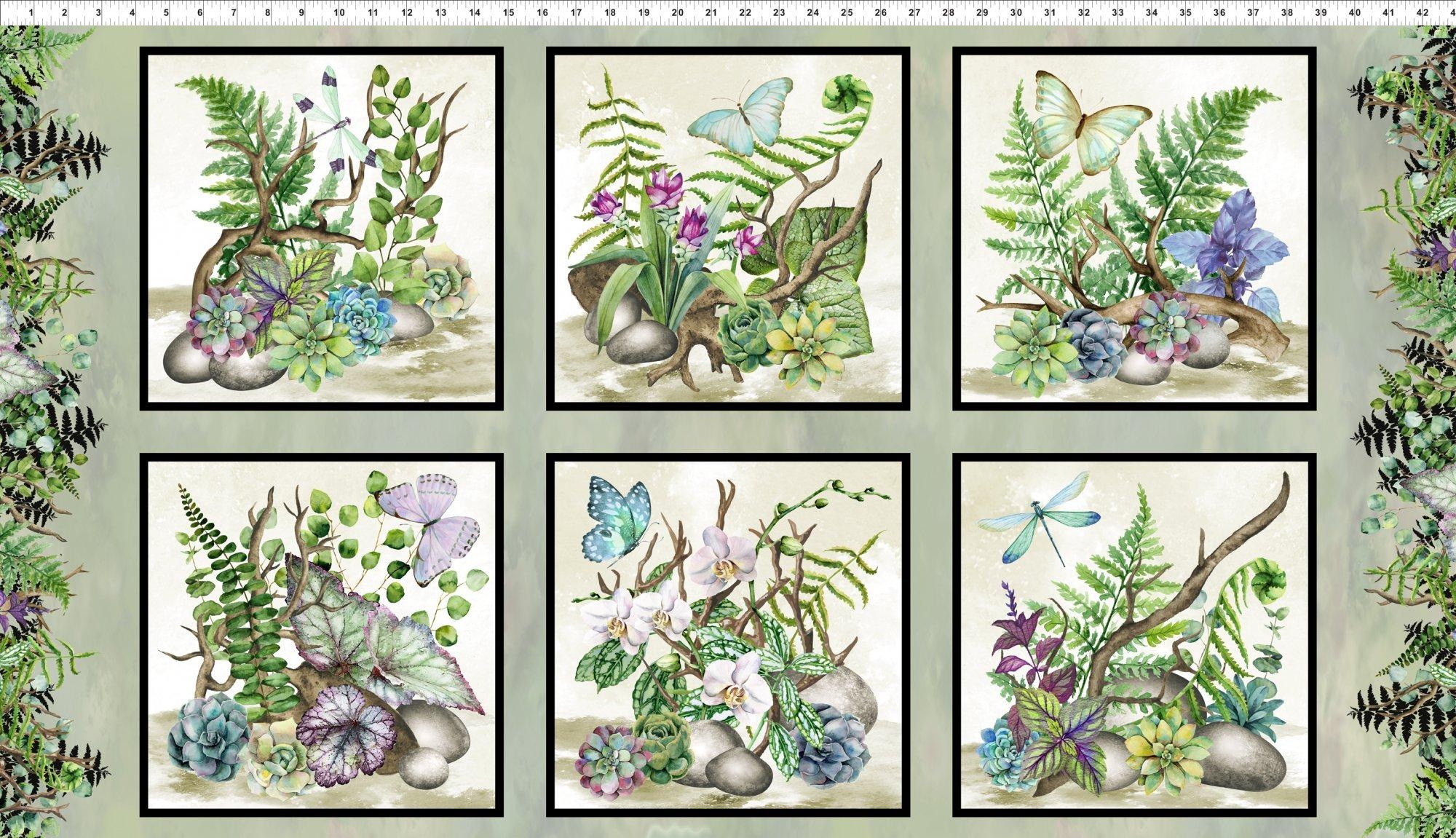 Terrarium - Digital Floral Panel #267 1TER 1