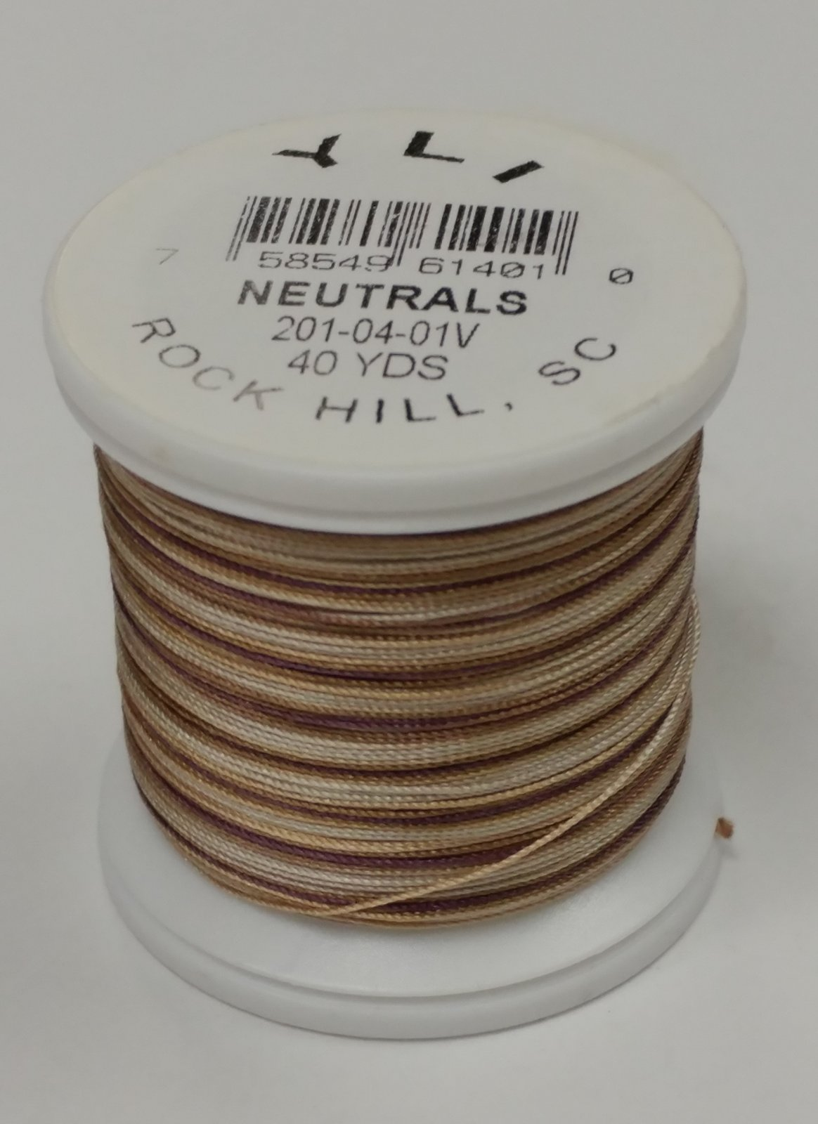 YLI Silk Thread 30wt Variegated Neutrals 40yds