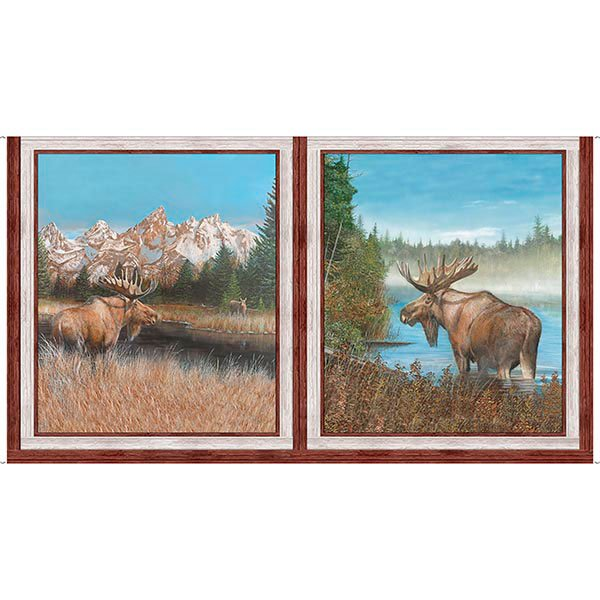 By Water's Edge Moose Panel #211