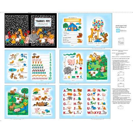 Sew N Go VIII Book Panel B4 - Teachers Pet Multi 27254 X