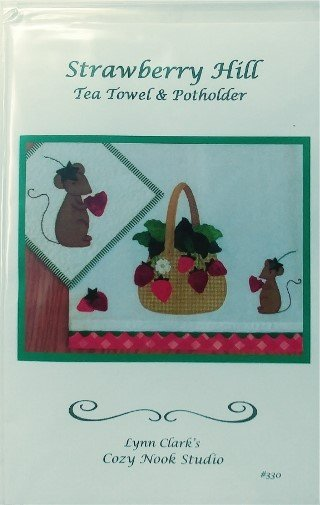 Strawberry Hill Tea Towel & Potholder Pattern 330