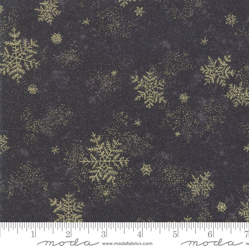 Forest Frost Glitter Metallic - Snow Flakes 33523 17MG Coal