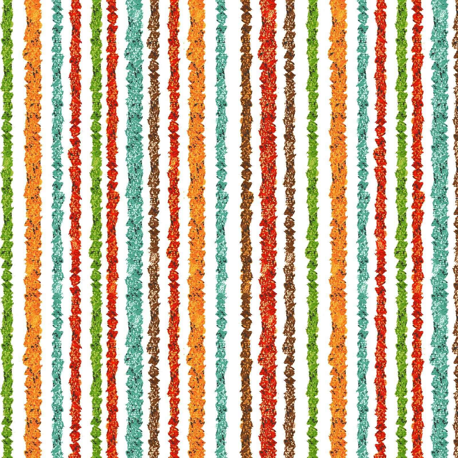 Playful Cuties IV Flannel - Safari Stripe 14925 Multi