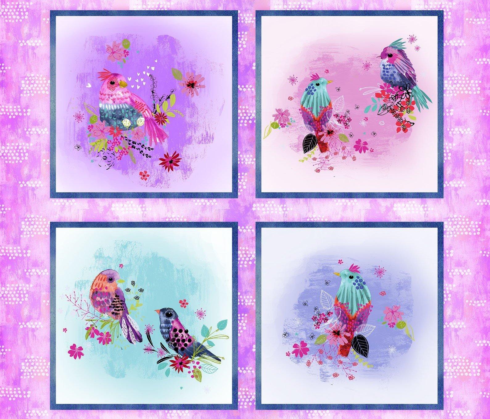 Bright Birds Panel #64 - 14987 Multi