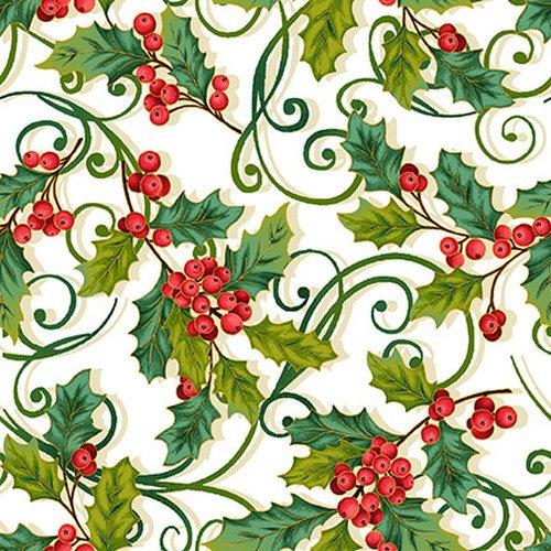 Christmas Joy Metallic - Holly Allover 4694M 33 Cream