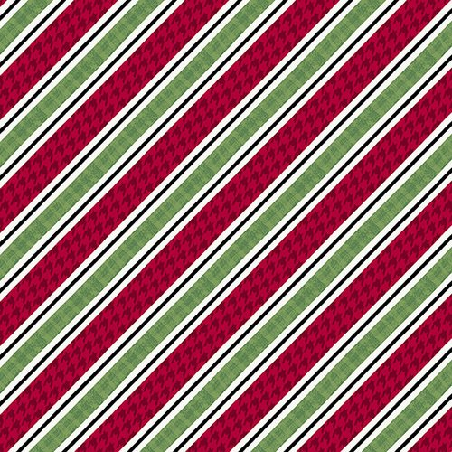 Holly Jolly Christmas - Diagonal Stripe Multi 4754 86