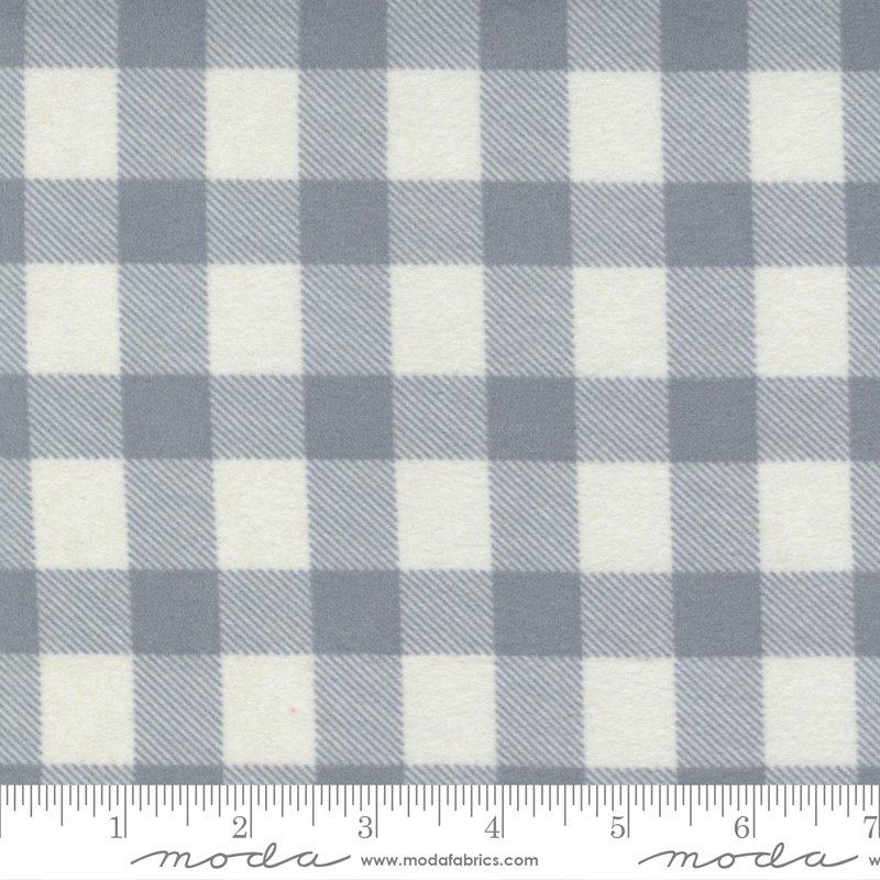 Yuletide Gatherings Flannels - Large Buffalo Plaid Check 49144 28F Smoke Grey