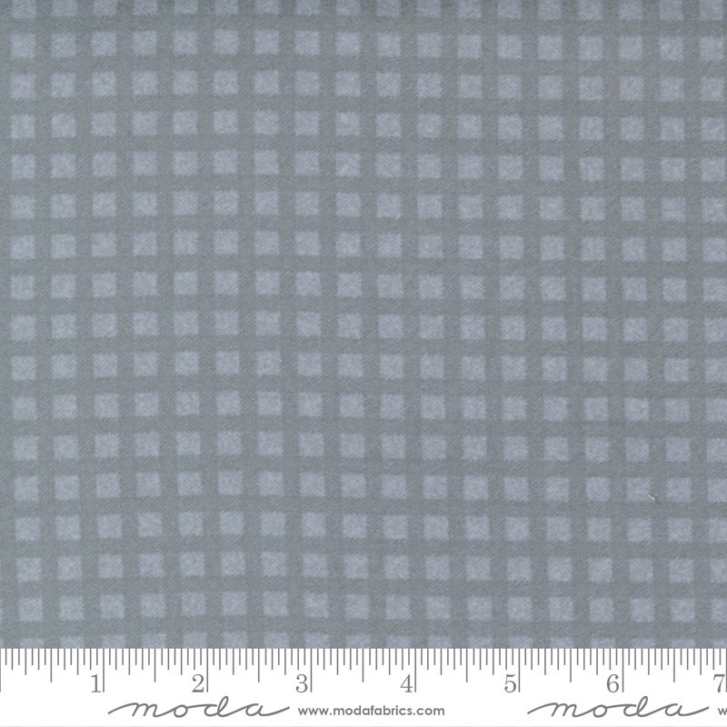 Yuletide Gatherings Flannels - Mini Buffalo Plaid Check 49145 17F Smoke Grey