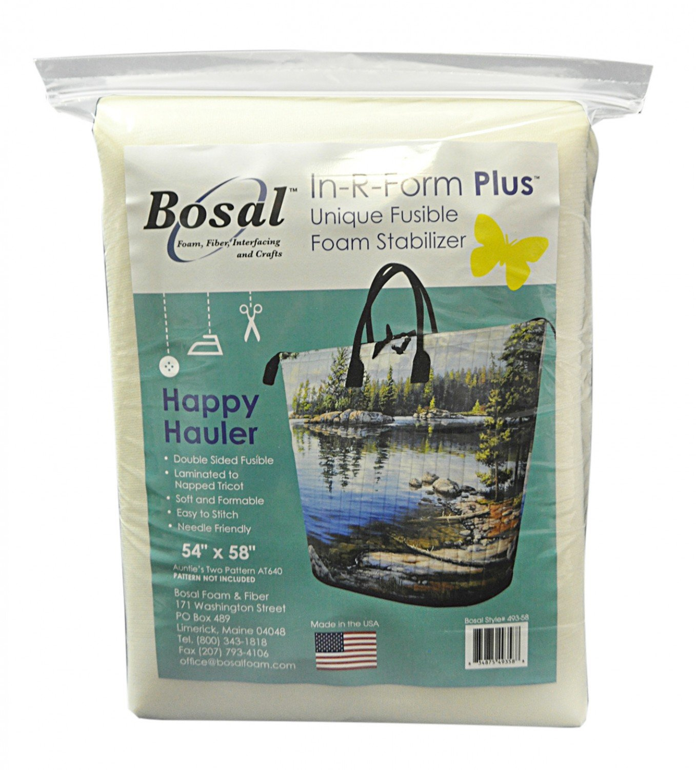 In-R-Form Plus 54 x 58  Happy Hauler Precut Double Sided Fusible 493B-58