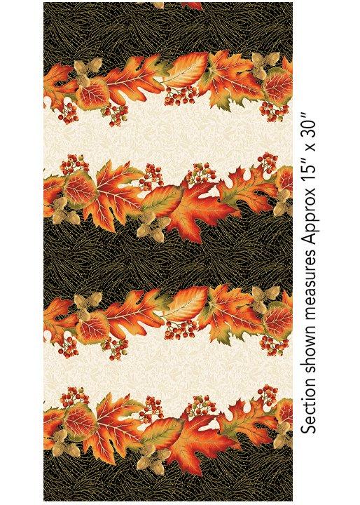 Autumn Leaves Stripe - Multi 5431M