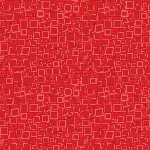 Anything Goes - Squares and Dots Red 625 20