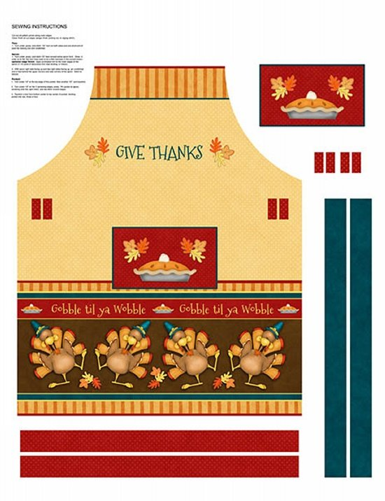 Give Thanks Apron Panel #21