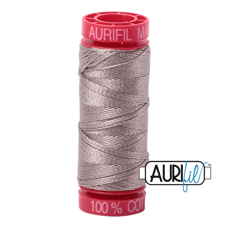 Aurifil Cotton Thread Mako 12wt 6730 Steampunk 50m/54yds