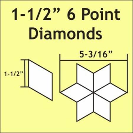 1.5 6 Point Diamond  75pcs