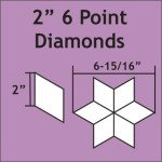 2 6 Point Diamond  75pcs